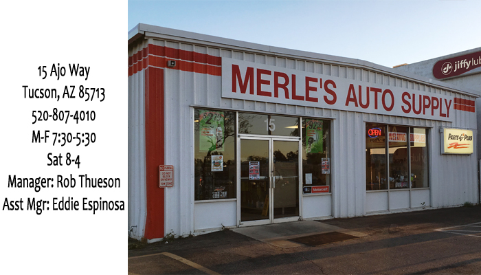 Merle S Automotive Supply Offers Auto Parts In The Tucson 85714 Area